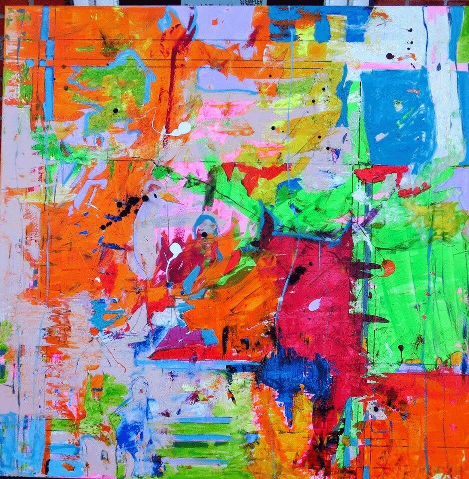 Akrylmaleri, Lone Luna Vestergaard (f.1976), motiv: