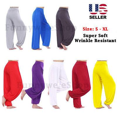 Comfy Loose Harem Yoga Pant Belly Dance Boho Wide Trousers S/M/L/XL & Yoga Socks