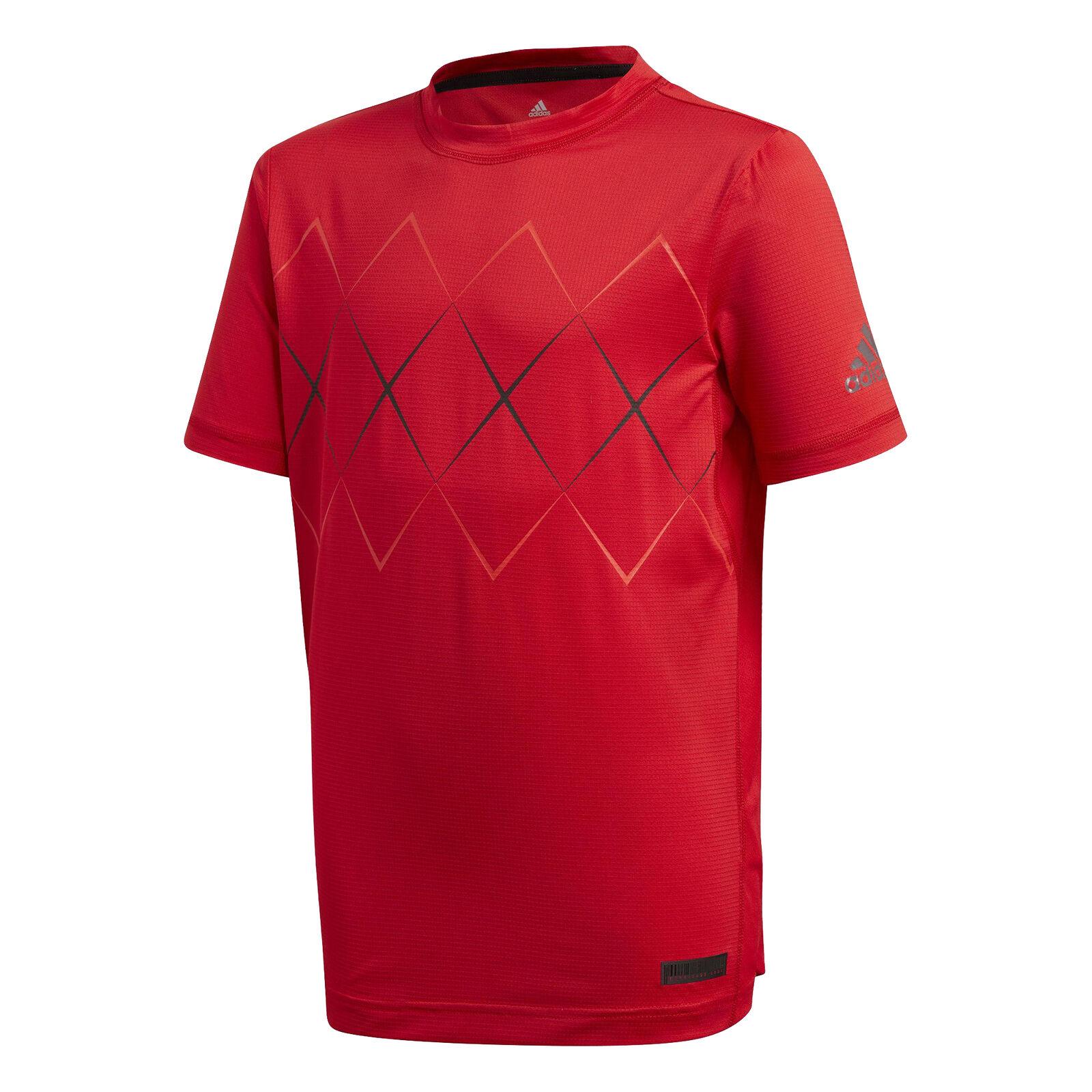 Adidas Boys Barricade Climalite Breathable Short Sleeve Tennis T-Shirt