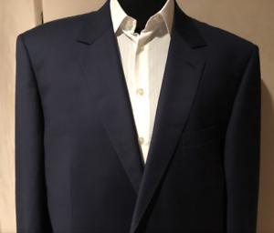 Suit 50 Long Navy Blue NWT Designer Rick Pallack Sale 65% + Off $1,195 Fine Wool