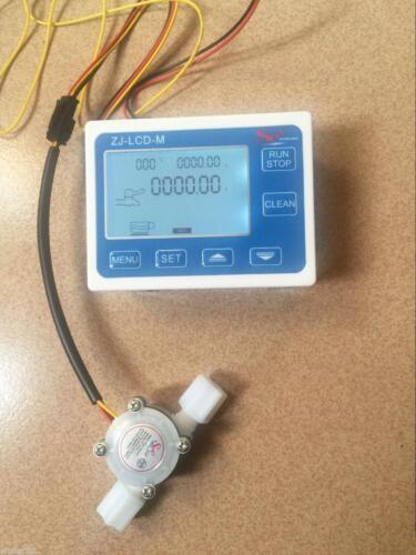 Water Flow Control LCD Meter Flow Sensor  1//4 inch