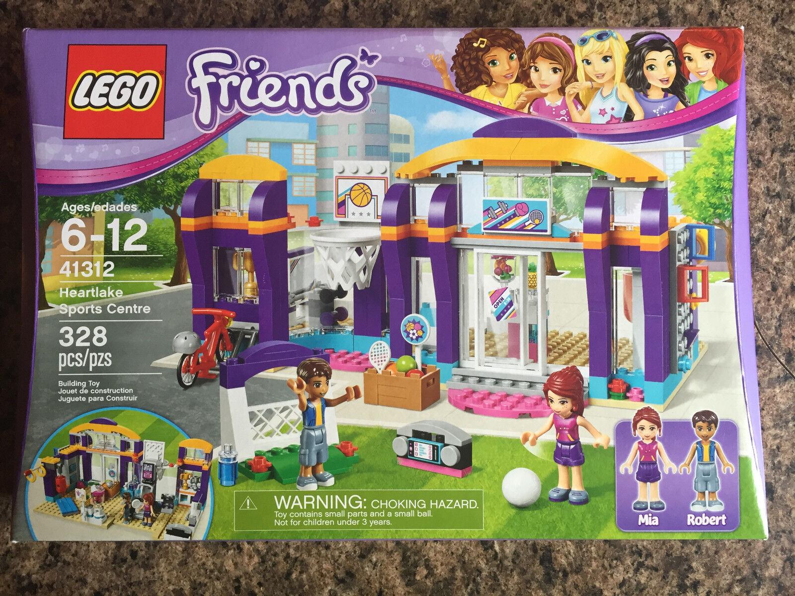 SEALED LEGO Friends HEARTLAKE SPORTS CENTRE 41312 Mia Mia Mia Robert center NEW 2017 16834b