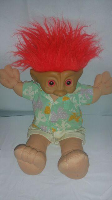 Vintage Large 8 Treasure Troll Doll Lot Orange Red   Etsy