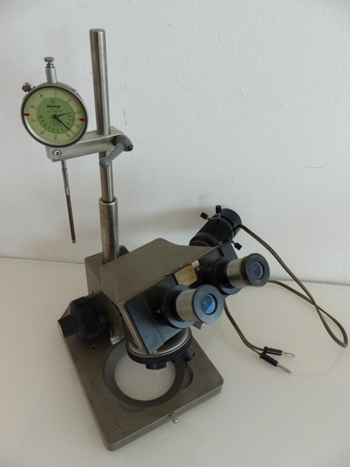 Olympus Mikroskop mit LWD MPLAN 40 5 0,55 0,10 Objektive Mitutoyo Messuhr