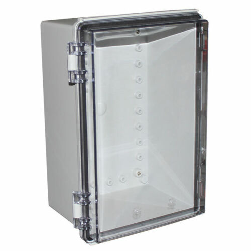 CamdenBoss CHDX8-227C X8 Series Hinged Poly Transparent Lid 300x200x150 IP66//67