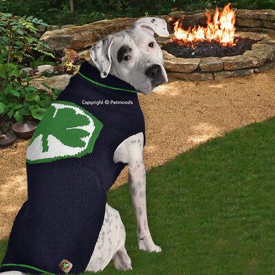 Chilly Dog Lucky Clover Green Shamrock Dog Sweater Wool XXXL [80-120 lbs] NEW