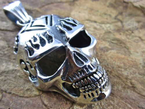 XXL cadenas de acero inoxidable remolques calavera Skull masivamente Biker rocker joyas punk
