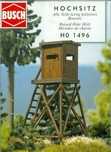 Busch-1496-High-Seat-Made-from-Real-Wood-Kit-H0