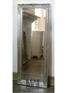 Cannes-Silver-Shabby-Chic-Full-Length-Antique-Dress-Mirror-16-034-x-52-034-Medium