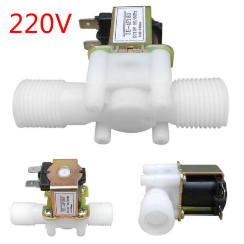 """12V 1//2/"""" N//C Plastic Electric Solenoid Valve Magnetic Water Air Normally WT"""