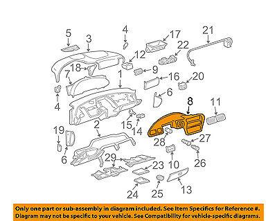 Chevrolet Gm Oem 00 05 Cavalier Instrument Panel Dash Cluster Trim 22698064 Ebay