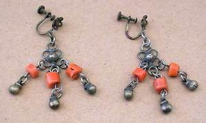 A-LOVELY-CORAL-SILVER-AND-COPPER-EARRINGS