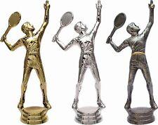 3er-Serie Tennis-Pokale (H) auf schwarzem Marmorsockel mit Ihrer Wunschgravur
