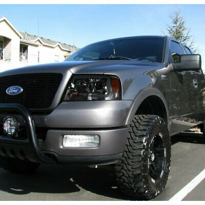 100W Halogen -Black Passenger Side with Install kit 2005 Ford F150 SUPERCREW 4DR Post Mount Spotlight Larson Electronics 1015P9IMABY 6 inch