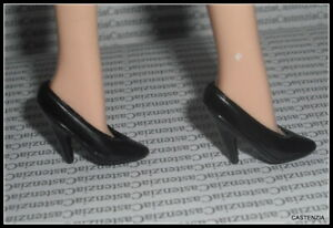 A1 SHOES BARBIE  DOLL GONE WITH THE WIND BLACK HIGH HEEL PUMPS ACCESSORY