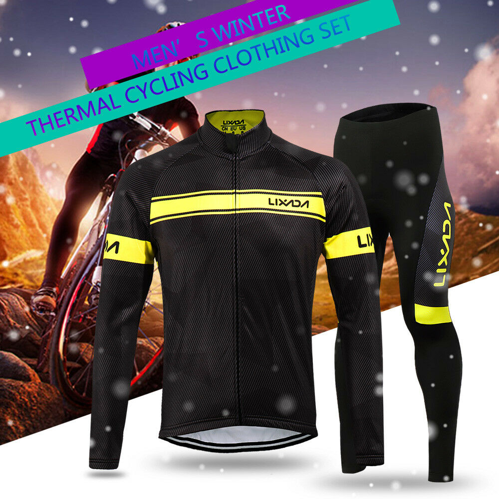 Lixada Winter Thermal Fleece Cycling Clothing Long Sleeve V4O3 Men s ... d399887db
