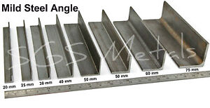 mild steel angle iron excellent range of sizes lengths available
