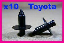 10 Toyota door trim board lining panel push type plastic fastener retainer clips
