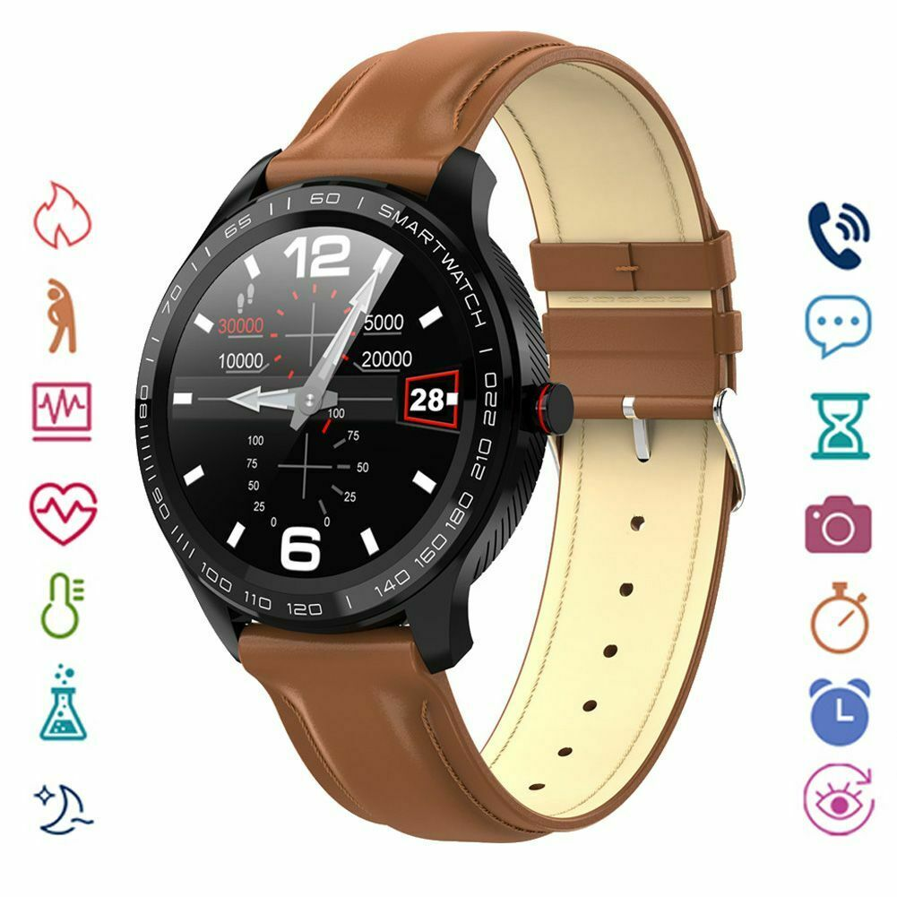 Round Screen Smart Watch Blood Pressure Sleep Monitor For Android iOS Men Women android blood Featured for monitor pressure round screen sleep smart watch