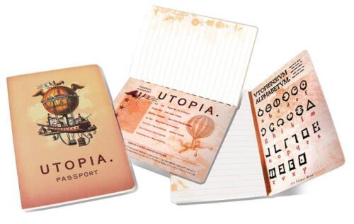 Utopia Passport and Pocket NoteBook with Art Images NEW SEALED