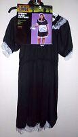 Womens Xl 18/20 Nip French Maid Halloween Costume Dress Apron Hat 3 Pc Set