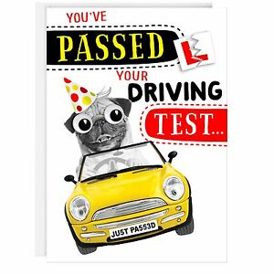 DRIVING TEST Congratulations Funny Humour Joke Card-You've ...