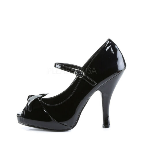Cutiepie-08 Vintage Style Mary Jane Peep Toe Shoes With Bow PIN UP By Pleaser
