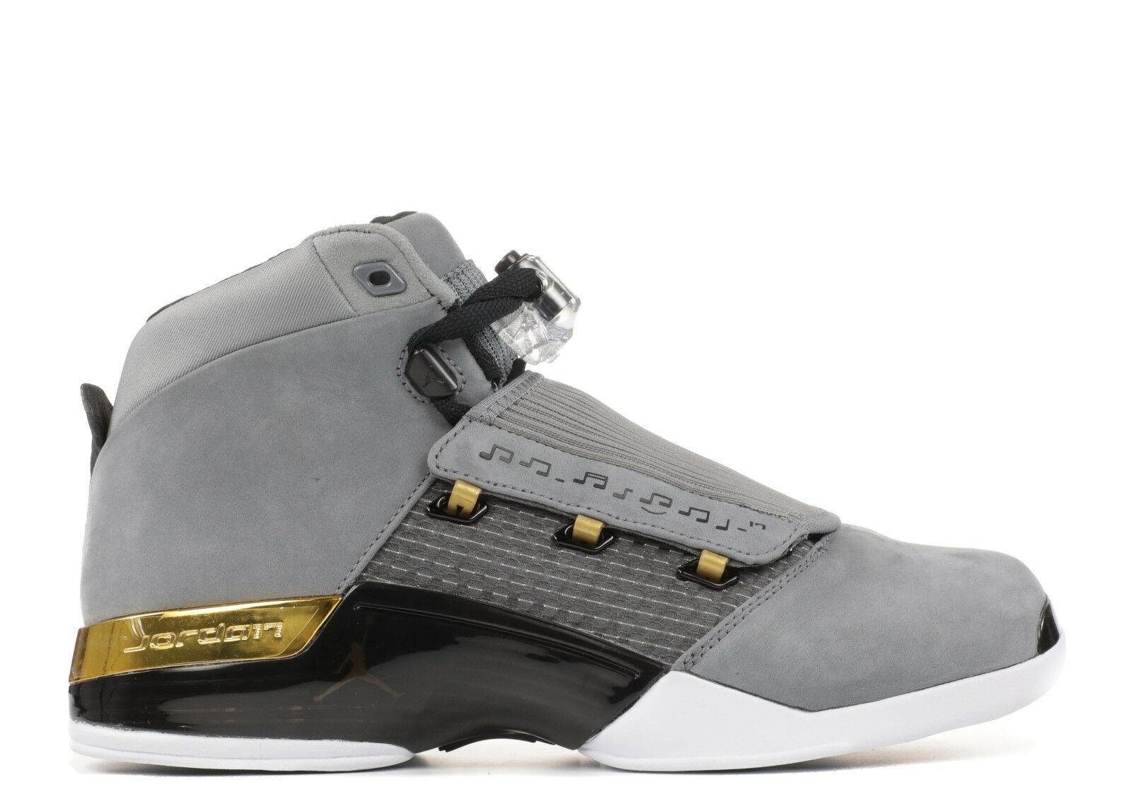 Nike Air Jordan 17 XVII Retro Trophy Room Cool Grey Gold Size 11. AH7963-023