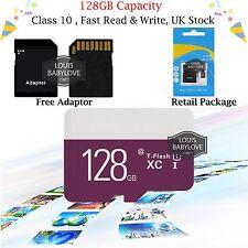 Micro SD / TF Card Class 10 Flash Memory SDHC SDXC 128GB - 80MB/S & Adapter