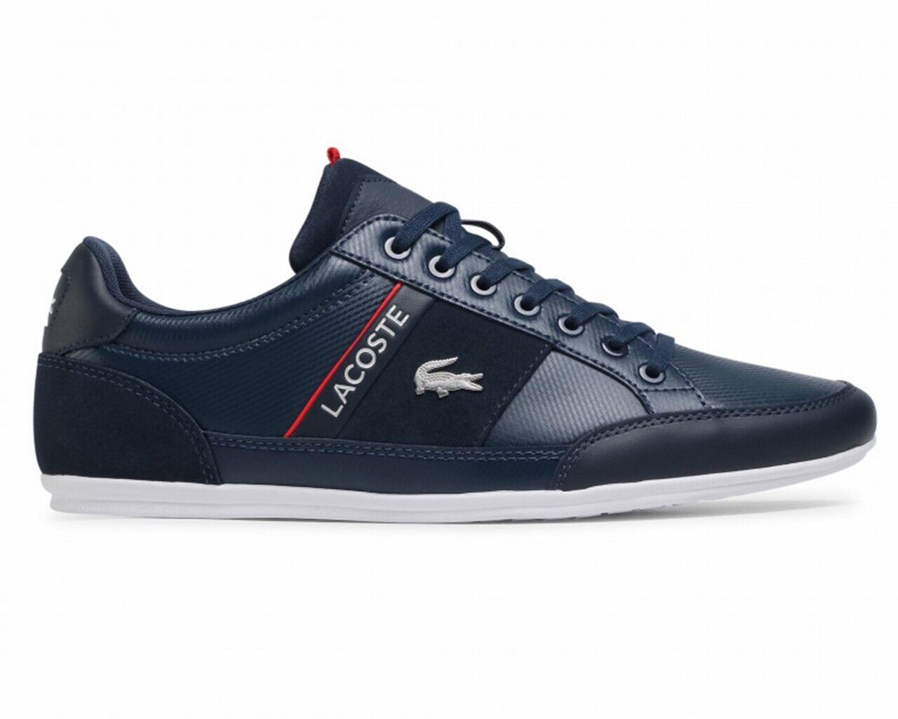 Lacoste Chaymon 0721 2 CMA Mens Leather Trainers Navy Sneakers Shoes