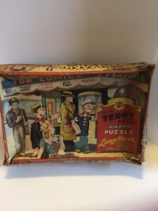 Antique-Jig-Saw-Puzzle-King-Feature-Comics-Terry-amp-The-Pirates-Popeye-Dick-Tracy