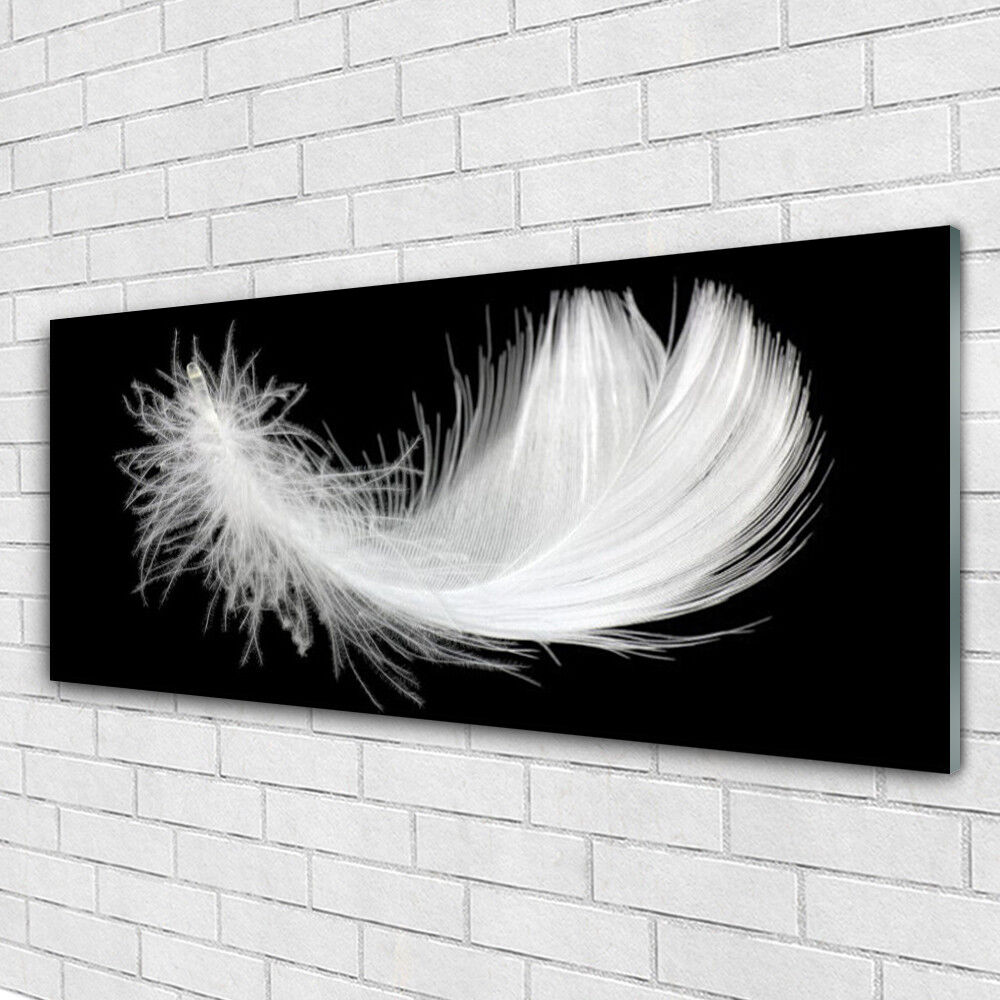 Impression sur verre Wall Art 125x50 Photo Image plume art