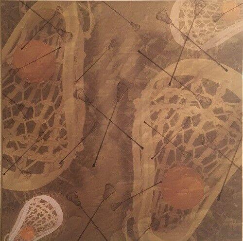 2 Sheets 12 x 12 Lacrosse Sports School Sugartree Scrapbook Paper