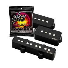 EMG GZR-PJ Geezer Butler PJ Pickup Set Black + FREE GHS Bass Strings 45-105