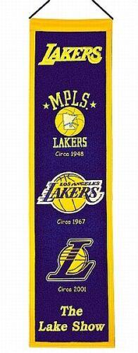 Los Angeles Lakers Heritage Fan Banner,80cm !!,NBA Basketball,Neu,Hammerteil !!