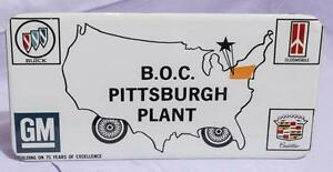 Vintage-B-O-C-Pittsburgh-Plant-Vanity-License-Plate-Buick-Olds-Cadillac-jds