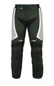 Grey-Black-New-Motorcycle-Trouser-Armour-Pant-Thermal-Textile-Motorbike-Trousers