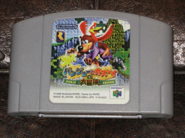 Banjo-Kazooie - Nintendo 64 N64 JP Japan Import Kazoie no Daibouken I 1