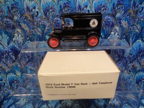 ERTL 1913 model T DIE CAST van Bell Telephone bank ORIGINAL box /& complete NEW