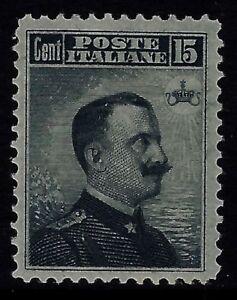 Regno-1906-cent-15-grigio-nero-nuovo-MH-Sassone-n-80