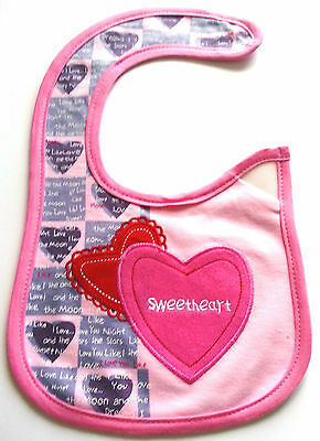 4 Baby Girl Kids Carter's Bibs Waterproof Saliva Feeding Cotton Velcro Fastening