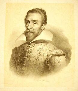 Lithography-Of-Jean-Baptiste-Mauzaisse-1784-1844-Portrait-1825