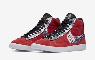 good out x really cheap detailing Nike Blazer Mid PRM Ben Simmons Habanero Red Suede Plaid CJ9782 ...