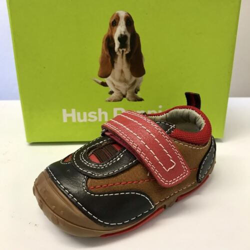 Hush Puppies Boys Toddler First Walking Infant Grip Non Slip Sole Shoes Trainers