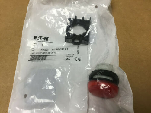 Operatin RED LED Color:Red 264V EATON  M22-L-R-230R   Panel Indicator 22.5MM