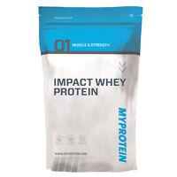 Myprotein Impact Whey Protein Undenatured Concentrate 1kg Strawberry Cream