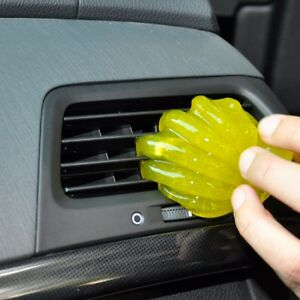 magical car clean glue interior panel air outlet dashboard dust cleaner tool. Black Bedroom Furniture Sets. Home Design Ideas