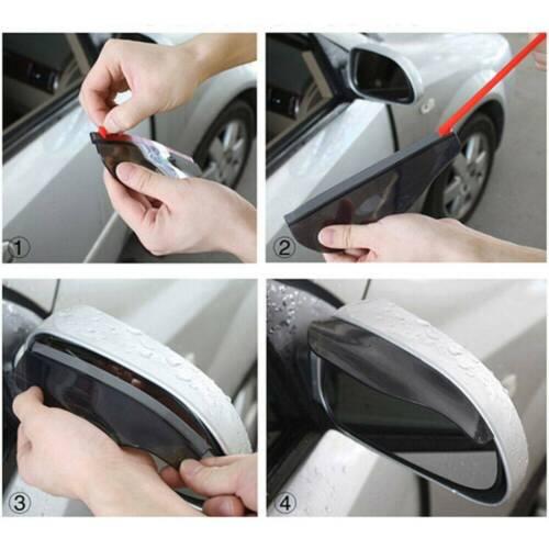 2Pcs Side Rear Mirror Visor Auto Car Accessories Rain Snow Guard Black Eyebrow