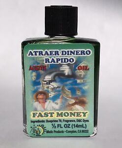 MISTIC PRODUCTS SPIRITUAL OIL-FAST MONEY 1/2oz   eBay