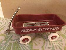 "Red Radio Flyer 4"" Metal Wagon 1997 80th Anniversary Mini Wagon"